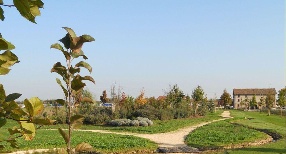 L'aiuola per le farfalle che sorge al centro del parco