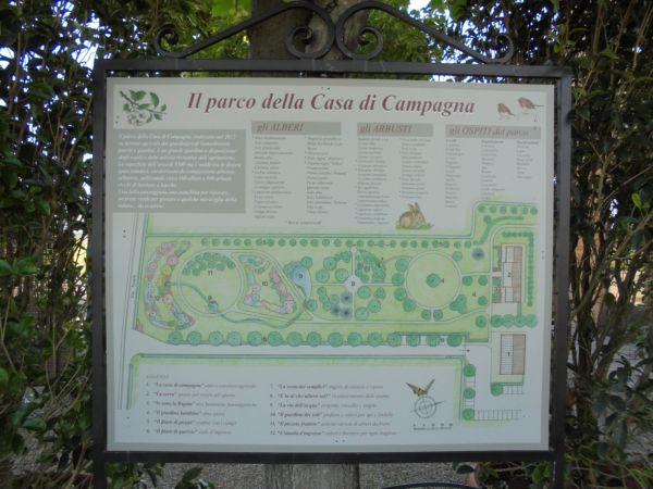 La cartina del parco è di aiuto per comprendere il progetto generale e conoscere il tipo di piante e arbusti messi a dimora.