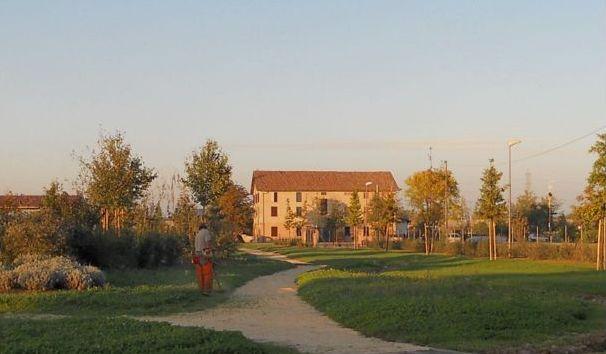 La casa vista dal parco