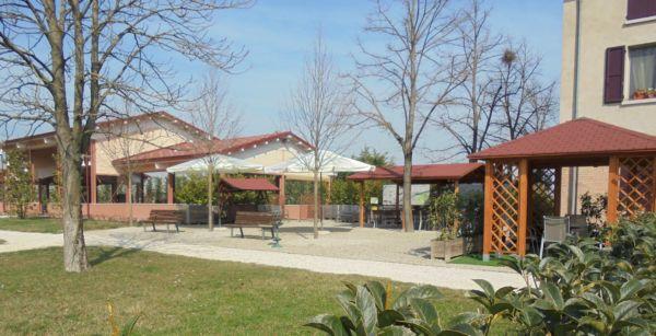 Spazio esterno affacciato sul parco