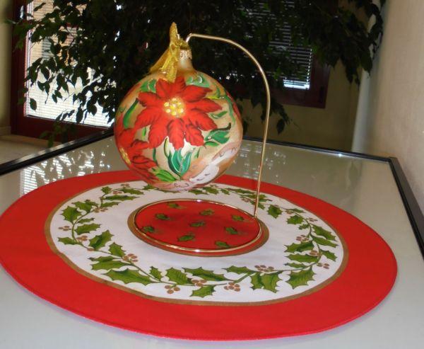 Piccole forme con i colori di Natale quà e là....