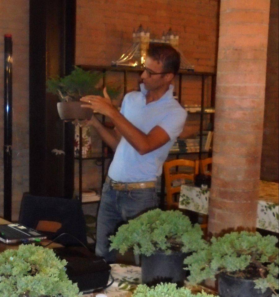 Osservare le piante portate dal Giardino Bonsai di Alberto ci hanno permesso di afferrare meglio i concetti teorici della sua lezione
