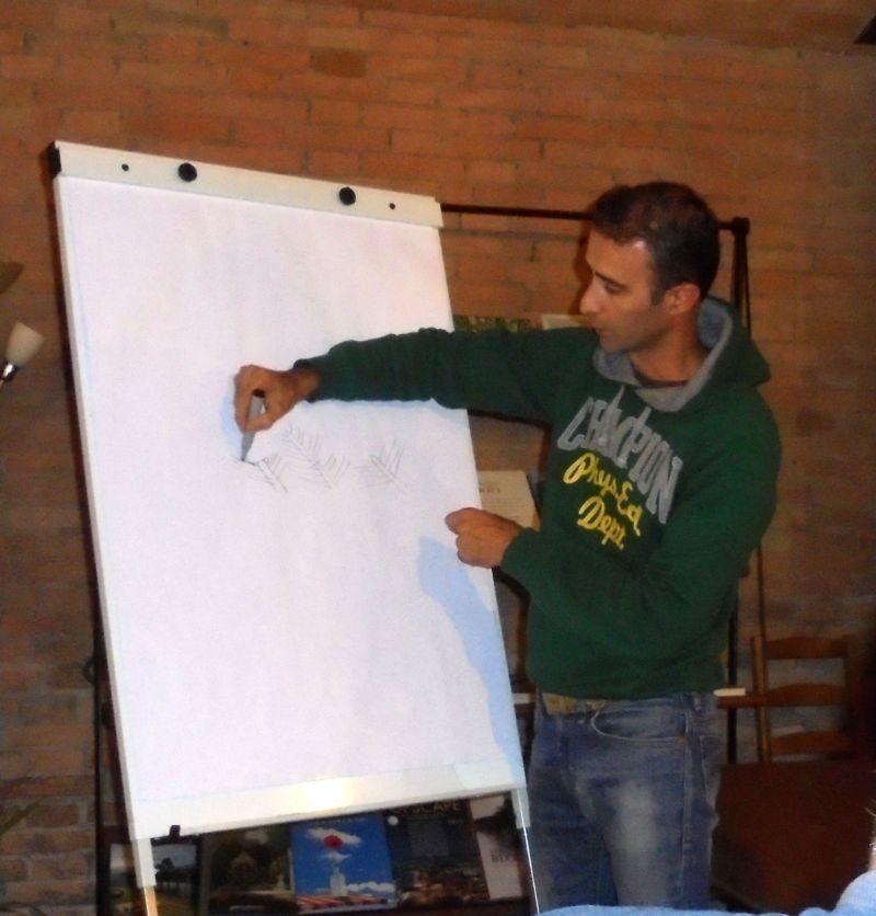Qualche disegno dell'istruttore ci ha semplificato l'apprendimento delle sue spiegazioni