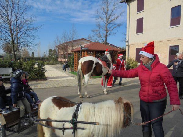 Ed ecco arrivare il cavallo grande, amico di Pioggia, il pony. La sig.ra Elfo controlla che tutto procede senza pericolo...